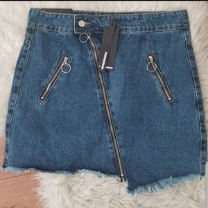NWT! Nasty Gal On the Down-Low Denim Skirt